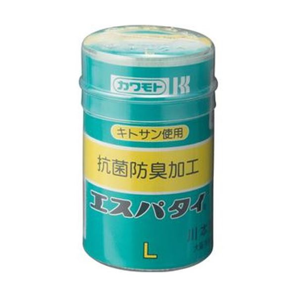 (まとめ)カワモト 抗菌エスパタイ L 6.5cm×4m 1巻【×50セット】