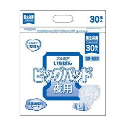 (まとめ)カミ商事 エルモア いちばんビッグパッド 夜用 1パック(30枚)【×5セット】