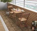 アカシア天然木スリムダイニングガーデンファニチャー Cyrielle シリエル 3點セット(テーブル+チェア2腳) スリムテーブル W55