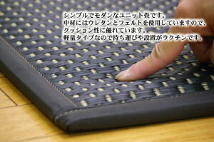 ユニット畳『フレア』ナチュラル82×82×2.3cm(9枚1セット)(中材:低反発ウレタン+フェルト)