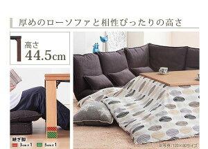 高さ4段階調節折れ脚こたつ【フラットローリエ】80×80cmこたつフラットヒーター正方形日本製継ぎ足折りたたみホワイト【代引不可】