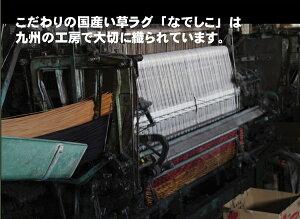 純国産/日本製袋織い草カーペット『なでしこ』ブルー江戸間4.5畳(約261×261cm)