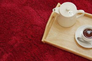 選べる5色シャギー洗えるラグ正方形『スレッド』グリーン190×190cm