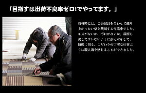 純国産/日本製い草花ござカーペット『京刺子』ブラウン江戸間10畳(約435×352cm)