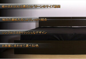パネル型ラインデザインベッドWK280(D+D)SGマーク国産ポケットコイルマットレス付ダークブラウン284-56-WK280(D+D)(108618)【】