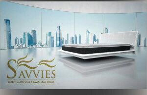 マットレスクイーン【SAVVIES】スイートS4ラテックスフォーム高密度ボンネルコイル寝心地が進化する新快眠構造スタックマットレス【SAVVIES】サヴィーズ