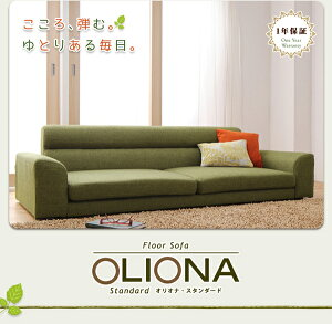ソファー2人掛けブラウンフロアソファ【OLIONAStandard】オリオナ・スタンダード
