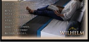 レザーベッドワイドK240【WILHELM】【デュラテクノマットレス付き】ホワイトモダンデザインレザーベッド【WILHELM】ヴィルヘルムワイドK240すのこタイプ【】