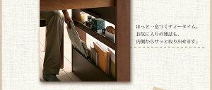 【単品】ベンチ【Miel】カフェブラウン収納シェルフラック付エクステンションテーブルベンチダイニングシリーズ【Miel】ミエル/ベンチ【】