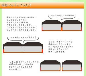 棚コンセント照明付フロアベッドWK260(SD+D)SGマーク国産ボンネルコイルマットレス付ホワイト268-01-WK260(SD+D)(10816B)【】