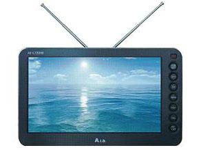 【あす楽】【送料無料】AID AI-L720HB ブラック 7インチ バッテリー内蔵 地上デジタルフルセグテレビ 専用車載キット(OP-720KSCA1)付き
