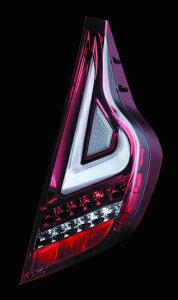 Valenti LED テールランプ アクア NHP10 TT10AQA-CR-1 クリア/レッドクローム 車検対応 ヴァレンティ AQUA