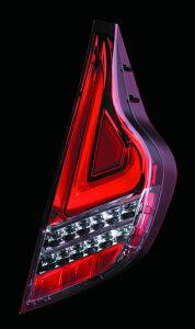 Valenti LED テールランプ アクア NHP10 TT10AQA-HC-1 ハーフレッド/クローム 車検対応 ヴァレンティ AQUA