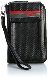 【あす楽】TRD 牛革製 パンチングモバイルケース 0834800 ブラック/グレー メンズ [トヨタ レーシング デベロップメント] スマートフォンケース スマホケース