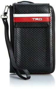 【あす楽】TRD 牛革製 パンチングモバイルケース 0834800 ブラック/レッド メンズ [トヨタ レーシング デベロップメント] スマートフォンケース スマホケース
