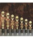 トロフィー 1本柱 《文字彫刻無料》 130種類の選べるメダル付 紅白...