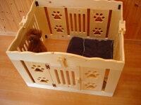 【送料無料】無垢材で作る犬用サークル(ゲージ)【WANサークル】