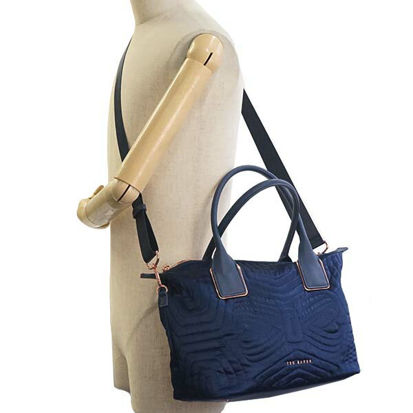 miniature 5 - Ted-Baker-Tote-Bag-2Way-Women-Navy-143258-Quilted-Bow-Small-Nylon