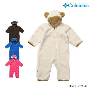 b2b0f6072c6861 コロンビア タイニーベアIIバンティング SN0214 ぬくもりあるフリース 素材で、着脱もしやすい熊をイメージしたカバーオールボアでかたどった熊の耳が印象的なフリース ...