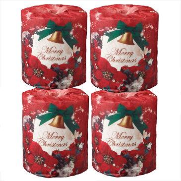 クリスマス トイレットペーパー4個セット