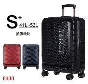 (FUNNファン)2020モデル機内持込41Lから53Lへ容量変更充電用USBポート付TSAロック新型スーツケースキャリーケースキャリーバッグトラベルバッグ超軽量マット加工BN8018Sサイズ