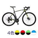 自転車 本格 ロードバイク 2019新型モデル700C×28...