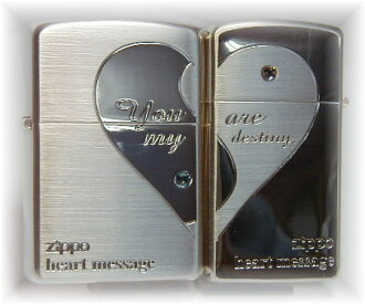 Zippo Zippo lighters Zippo lighter luxury goods: cross-ハートデザインペア heart S1 Zippo regular & slim