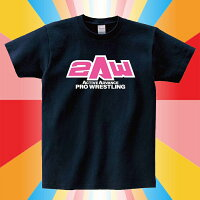 2AWロゴTシャツ(ネイビー×ピンク)