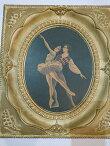 ビンテージバレリーナパドゥドゥ絵画M.Goodmanホワイトフレーム37×322