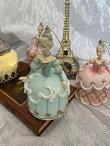オーナメント陶器バレリーナ貴婦人バレエ雑貨バレリーナ雑貨可愛いインテリアプレゼント置物