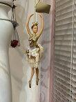 バレリーナ人形オーナメントバレエ雑貨バレリーナピンク雑貨置物インテリアクリスマスオーナメント