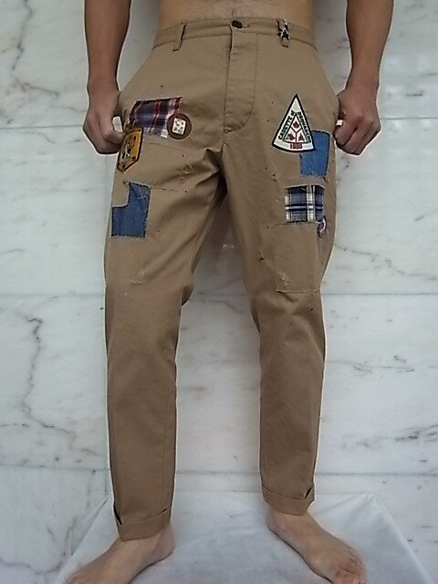 メンズファッション, ズボン・パンツ DSQUARED2SCOUT PATCH HOCKNEY PANTSCOTTON TWILL HOCKNEY FITPantsKAKY