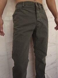 "NudieJeans(ヌーディージーンズ)【KHAKIREGULAR】""OLIVECRISPSHARPBENGTSTYLE""レギュラーフィットキャンバストラウザー★"