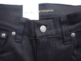"NudieJeans(ヌーディージーンズ)【THINFINN】C/#470""LOWYOKETHINSKINNYLEGS""""DRYCOLDBLACK""ストレッチ混スリムスキニー""BLACK""Jeans★"
