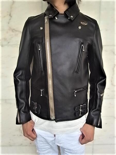 メンズファッション, コート・ジャケット Lewis Leathers RUTLAND SHEEP SKINNo.391TR LIGHTNING JACKETTight FitDouble Riders JacketRUTLAND SHEEP SKIN BLACK with BEIGE ZIP
