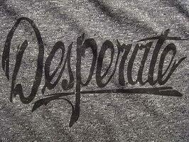 "MARCJACOBS(マークジェイコブス)【""Desperate""MELANGEJERSEYTEE】""SLIMFIT""ショートスリーブトリムTee★CHARCOALMELANGE★"
