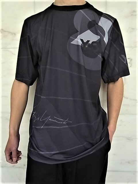 トップス, Tシャツ・カットソー adidas STYLE Y-3Y-3 AOP FOOTBALL SHIRTGRADATIONTeeCORE BLACK