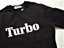 """MSGM(エムエスジーエム)【Turbo】""""REGULARFIT""""クルーネックスウェット★BLACK×WHITE☆"""