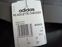 "adidasbyRAFSIMONS(アディダスバイラフシモンズ)""LIMITEDEDITION""【RAFSIMONSADILETTECHECKERBOARD】""ADILETTE""ラバーサンダル☆COREWHITE/COREBLACK/GRANITEA3NG★"