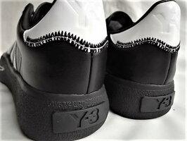 "adidasSTYLEY-3(ワイ−スリー)【Y-3TANGUTSUFOOTBALL】""YohjiYamamoto""シグネイチャープリントレザースニーカー★BLACK/FTWWHT/BLACK★"