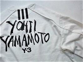 "adidasSTYLEY-3(ワイ−スリー)【Y-3MSIGNATUREGRAPHICCREWSWEATER】""YOHJIYAMAMOTO""シグネイチャープリントクルーネック""LOOSEFIT""スウェット☆COREWHITE☆"