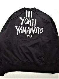 """adidasSTYLEY-3(ワイ−スリー)【Y-3MSIGNATUREGRAPHICCREWSWEATER】""""YOHJIYAMAMOTO""""シグネイチャープリントクルーネック""""LOOSEFIT""""スウェット★BLACK★"""