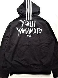"adidasSTYLEY-3(ワイ−スリー)【Y-3MSIGNATUREGRAPHICFULLZIPHOODIE】""YOHJIYAMAMOTO""シグネイチャープリント""LOOSEFIT""ジップアップスウェットパーカー★BLACK★"