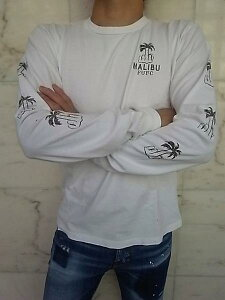 "LOCAL AUTHORITY(ローカル・オーソリティ)【FUFC PALM LONG SLEEVE TEE】""VINTAGE WASHED""ロングスリーブTee☆WASHED WHITE☆"