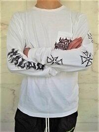 "LOCALAUTHORITY(ローカル・オーソリティ)【WARRIORLONGSLEEVEPOCKETTEE】""VINTAGEWASHED""ロングスリーブTee☆WASHEDWHITE☆"