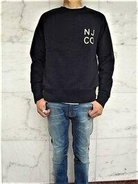 "NudieJeans(ヌーディージーンズ)【MELVIN】""オーガニックコットン""ラグランスリーブ""NJCO""スウェット★BLACK★"