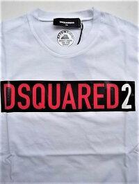 "DSQUARED2(ディースクエアード)【DSQUARED2】BOXLOGO""COOLFIT""ショートスリーブTee☆WHITE☆"