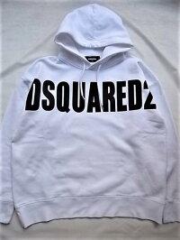 "DSQUARED2(ディースクエアード)【DSQUARED2】""SLOUCHFIT""""オーバーサイジング""HOODEDSWEATSHIRT☆WHITE☆"
