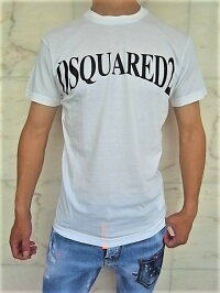 "DSQUARED2(ディースクエアード)【DSQUARED2】""COOLFIT""""BESTFADE""ショートスリーブTee☆WHITE☆"