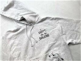 "GALLERYDEPT.(ギャラリーデプト)【REVERSEWEAVELOGOHOODEDSWEATSHIRT】ハンドペイント""ギャラリーデプトフレンチロゴ""リバースウィーブスウェットパーカー☆SILVERGRAY☆"